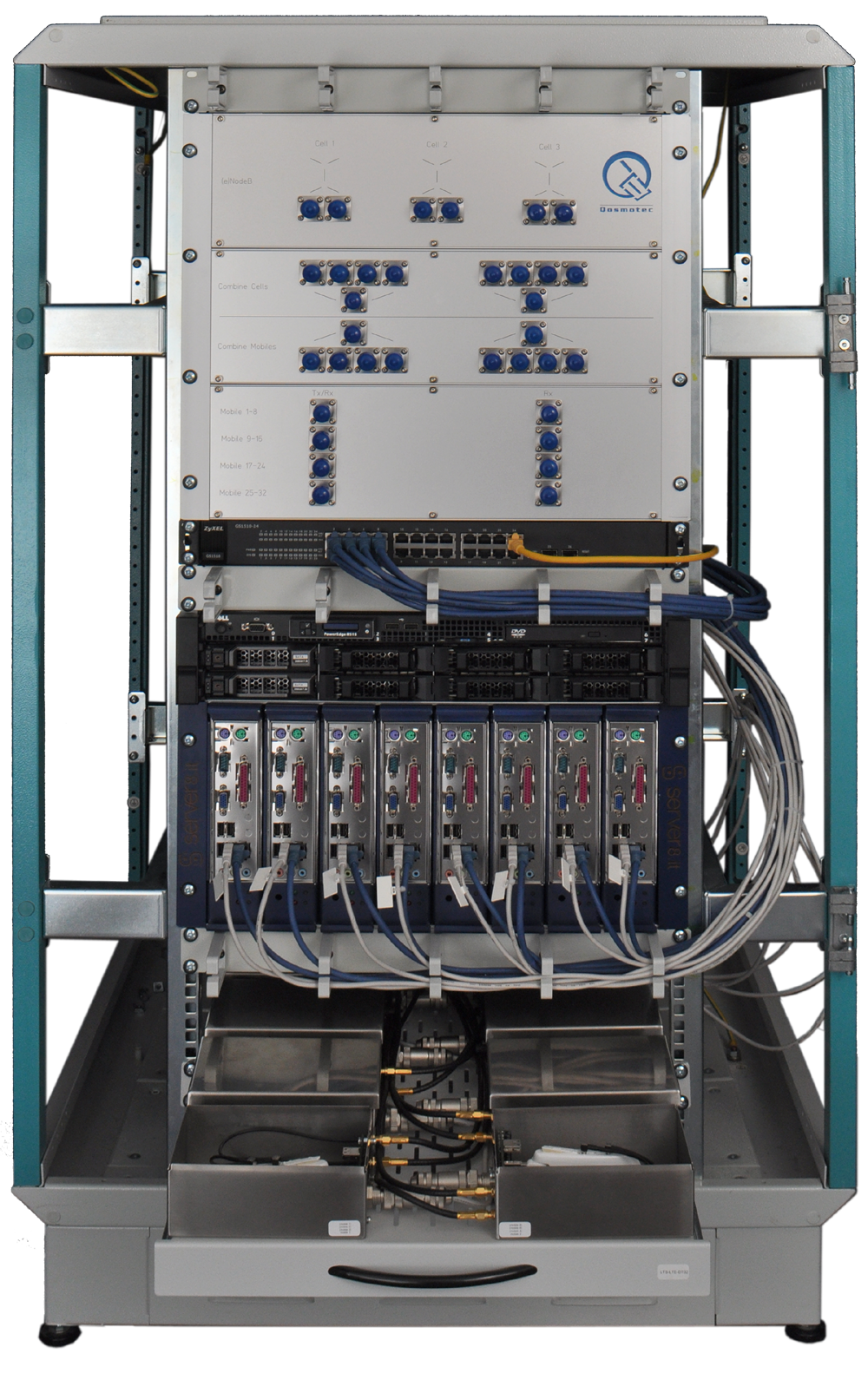 10 Years Experience In Mobile Network Testing Quick On Board Junction Tester Qosmotecs Lts Test Automation System As A Rack Setup To Control Large Numbers Of Ues
