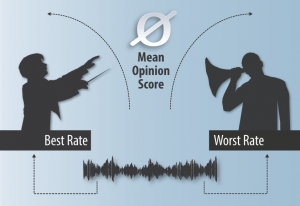 Mean Opinion Scores (MOS) descripe the average between perfect pitch and tone deaf