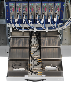 Space saving individual shielding: Up to 8 RF Guards fit on a rack shelf.